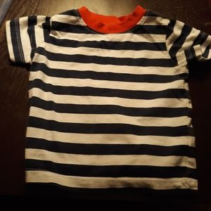 Boy's Blue and White Striped Shirt [9 Months]